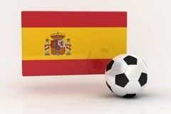 fotboll spain royaltyfri illustrationer