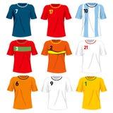 Fotboll Team Uniforms vektor illustrationer