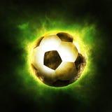 fotboll tre för bakgrundsbanerdesign dig Fotografering för Bildbyråer