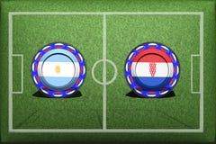 Fotboll världscup 2018, modig grupp D, Argentina - Kroatien stock illustrationer