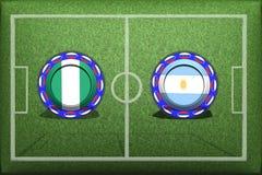Fotboll världscup 2018, modig grupp D, Nigeria - Argentina stock illustrationer