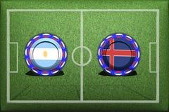 Fotboll världscup 2018, modig grupp E, Argentina - Island royaltyfri illustrationer