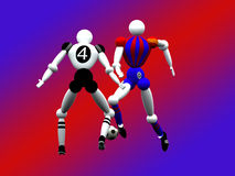 fotboll vol för 4 spelare Arkivfoto