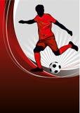 fotbollaffisch Arkivbild