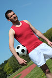 Fotbollande arkivbilder