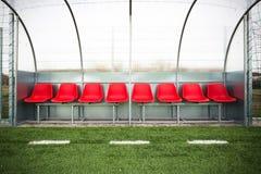 Fotbollbänk Fotografering för Bildbyråer