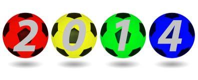 Fotbollboll 2014. royaltyfri illustrationer