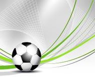 Fotbollboll i netto Royaltyfri Foto