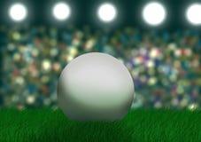Fotbollboll på stadion Fotografering för Bildbyråer