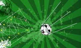 Fotbolldesign Ryssland med den berömda sputniksatelliten som fotbollbal Royaltyfri Foto
