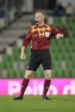 Fotbolldomare, Marcin Borski Royaltyfri Foto