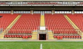 Fotbolldugout och platser Royaltyfri Fotografi