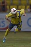 Fotbolldykningtitelrad fotografering för bildbyråer