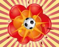 Fotbollexplosion Arkivfoto
