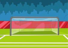 Fotbollfält royaltyfri illustrationer