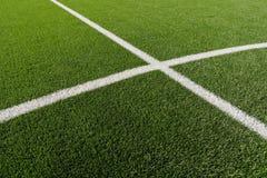 Fotbollfält Royaltyfria Foton