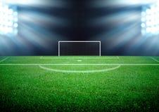 Fotbollfält Arkivfoto