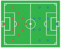 Fotbollfält. Arkivfoton