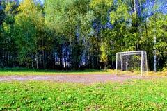 Fotbollfält för barn arkivfoton