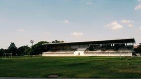 Fotbollfält i min skola Royaltyfri Bild
