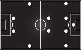 Fotbollfält med bildande 4-4-2 Royaltyfri Bild