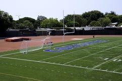 Fotbollfält på Santa Monica College Royaltyfri Foto