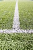 Fotbollfälts linje Fotografering för Bildbyråer