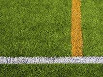 Fotbollfälts linjer Royaltyfri Bild