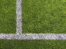 Fotbollfälts linjer Arkivfoton