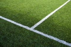 Fotbollfälts linjer Royaltyfri Foto