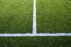Fotbollfälts linjer Royaltyfria Foton