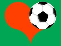 fotbollförälskelse Fotografering för Bildbyråer