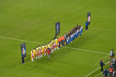 fotbollförebildungar royaltyfri bild