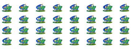 Fotbollfifa världscup 2014 all landsflagga Royaltyfri Illustrationer