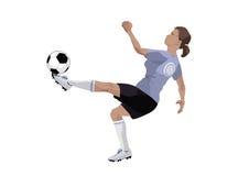 Fotbollflicka Arkivbild