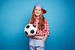 Fotbollflicka Royaltyfri Bild