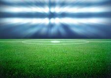 Fotbollfält Arkivbild