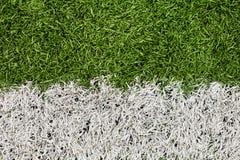 Fotbollfältlinje detalj Royaltyfria Bilder