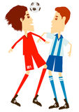 fotbollfotboll vektor illustrationer