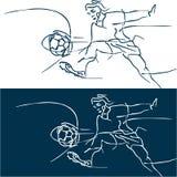 Fotbollfotbollbakgrund. Royaltyfria Bilder