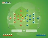Fotbollfotbollbakgrund Arkivfoton