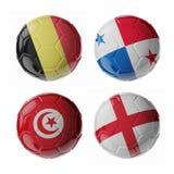 Fotbollfotbollbollar royaltyfri bild