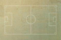 Fotbollfotbollfält royaltyfria foton