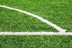 Fotbollfotbollfält Fotografering för Bildbyråer