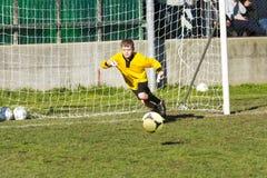 Fotbollfotbollsmatch Royaltyfri Foto