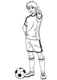 Fotbollfotbollspelare Arkivfoton