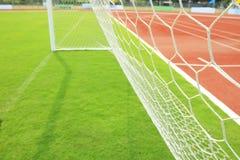 fotbollgräsjordning Royaltyfri Foto