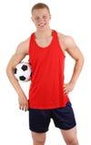fotbollgrabb Royaltyfria Bilder