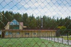 Fotbollgrund Royaltyfria Bilder