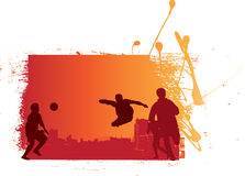 fotbollgrunge Royaltyfri Fotografi